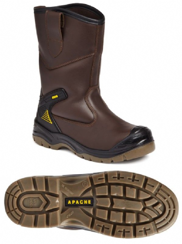 Apache AP305 Brown Safety Rigger Boot
